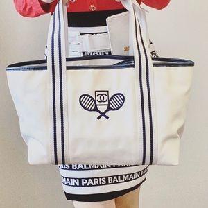 Sale!CHANEL vintage tennis cloth Shoulder bag